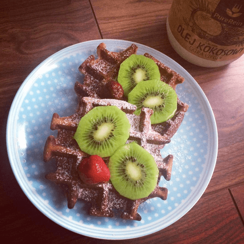 gofry kakaowe bez glutenu