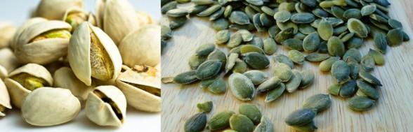 zrodla zelaza- pistacje i pestki dyni
