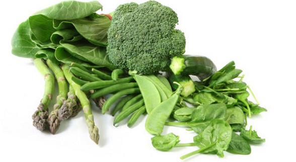 zrodla zelaza -zielona warzywa