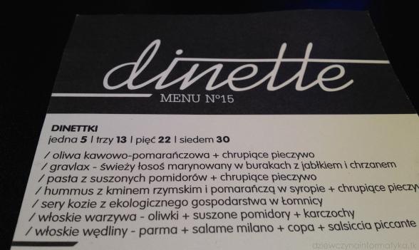 dinette-menu