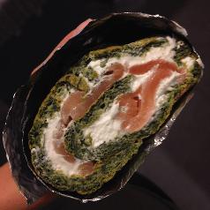 rolada szpinakowa z losoiem