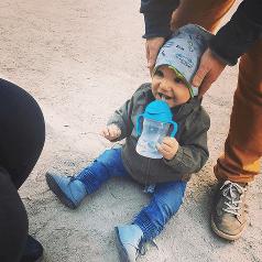 Franio pije z nowego bboxa