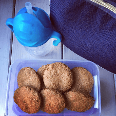 ciasteczka owsiane z orzechami